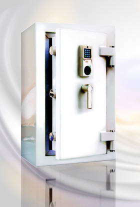 pearly white high-gloss safe