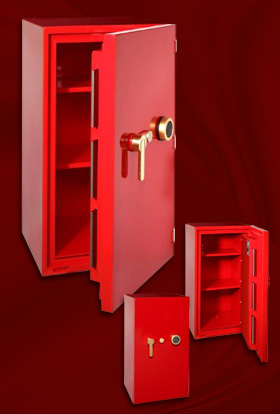 Red high glossy safe