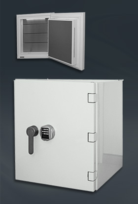 White high glossy safe (small)